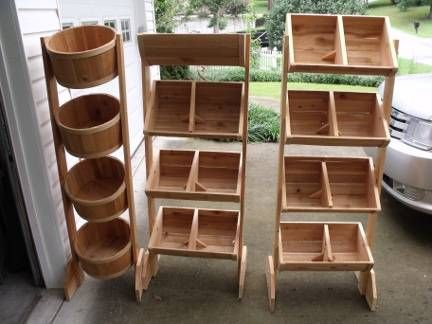 Wood display or storage stands