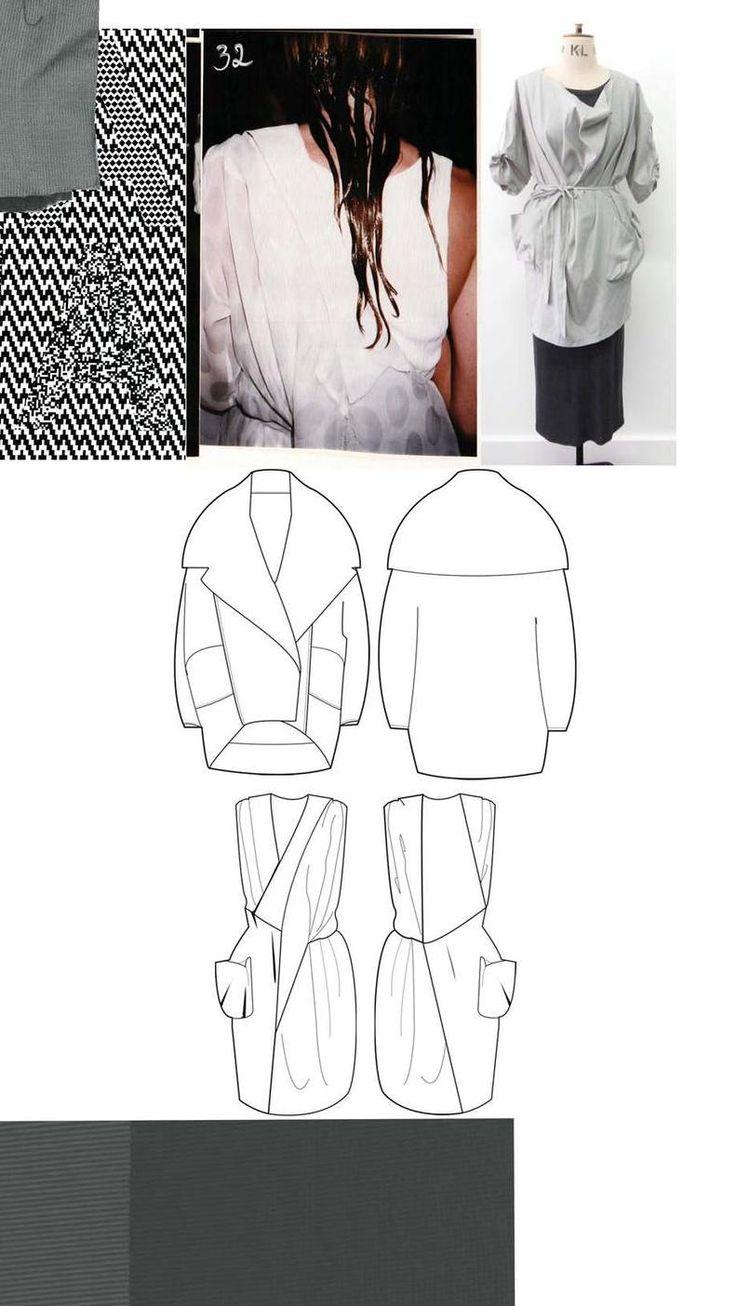 Fashion Sketchbook - fashion drawings & research; graduate fashion portfolio layout // Chloe Bayles