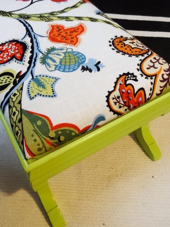 Reupholster A 3 99 Ottoman Thrift Store Find Diy