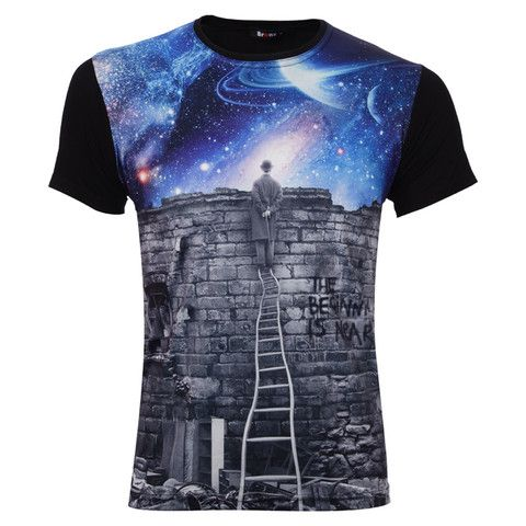 "Ανδρικό T-shirt μαύρο ""The Beginning is near"" - Bronx  http://brands4all.com.gr/collections/mens-t-shirt"