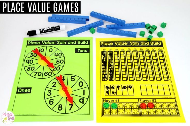 Spin the Place Value: This fun 1st Grade Math activity helps students understand place values and the meaning of a number in a hands-on way!