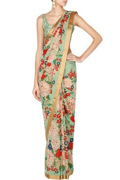 Sabyasachi indian designer online ethnic sarees Featuring a mint green and…