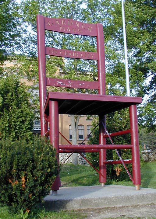 Gardner Massachusetts record breaking Chair.  Hey, everyone needs something to be proud of!!  ;o)