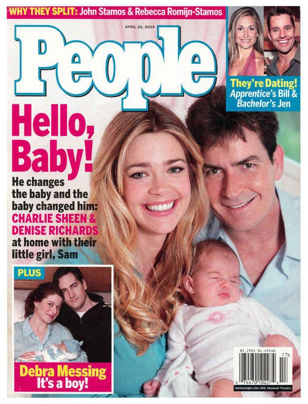 10 years ago... Denise Richards and Charlie Sheen welcomed their first daughter.