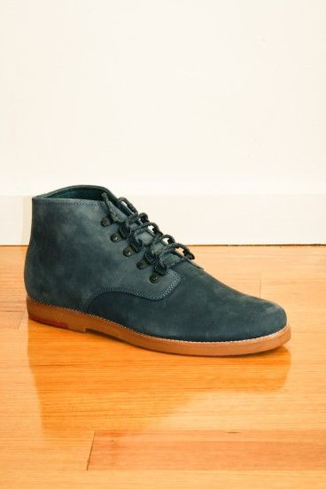 Wolf mid mountain nubuck leather boot in navy by Meandher, these are gallant shoes for gallant men