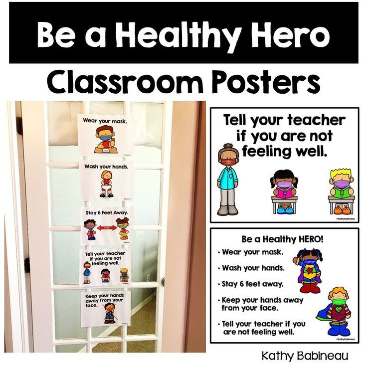 Healthy Kids Classroom Posters In 2020 Classroom Posters Kids Classroom Classroom