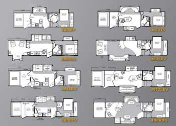 Keystone Raptor Fifth Wheel Toy Hauler Floorplans