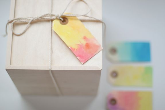 watercolor labels: Craft, Idea, Watercolors, Gifts, Gift Tags, Watercolour Gifttags, Diy