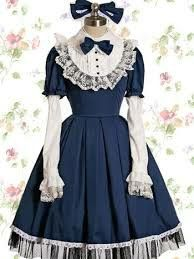 old school lacy lolita dress