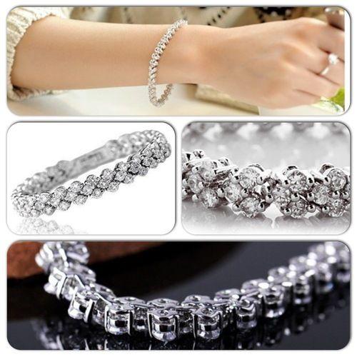 Stunning fashion Sterling Silver & Crystal Bracelet, AU$19.95