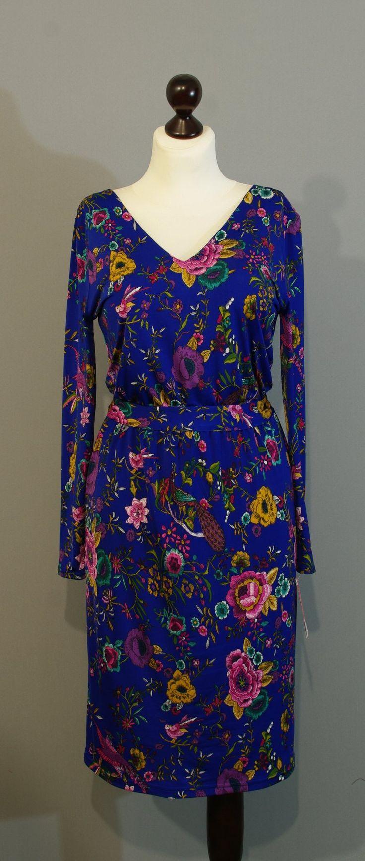 Синее платье с птичками от дизайнера Юлии, Платье-терапия Киев (47)