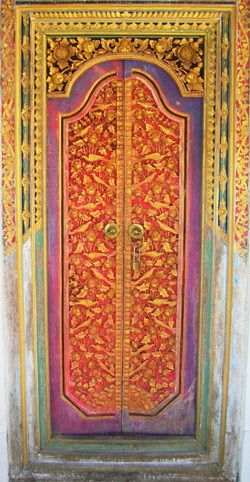 Colorful handicrafted door
