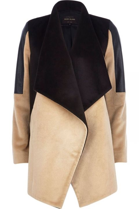 Camel Block Coat River Island