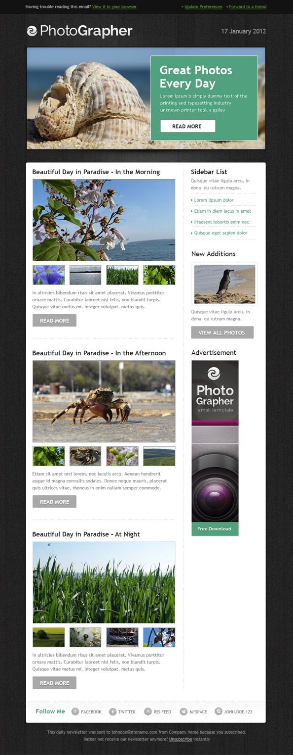 Best 25 Html email templates ideas on Pinterest Html newsletter