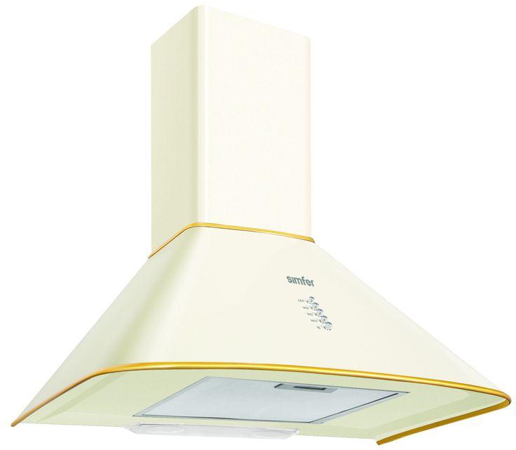 SIMFER KAMINSKA STENSKA NAPA 8661 SM.Rustic stenska napa, bež barve, ki se idealno poda k rustic pečici in plošči Simfer, tudi bež barve.  Mehansko upravljanje, število hitrosti: 3, odvod zraka/kroženje zraka, pralni maščobni filter, največji pretok zraka 500 m3/h,  glasnost 53 dBA, moč 190 W, osvetlitev 2 x 25W halogen, enojni dimnik, barva rustic bež.  Energijski razred: C