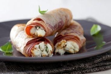 Recette de Cigarette de brousse au basilic et au jambon #appetizer #apéritifs #tapas