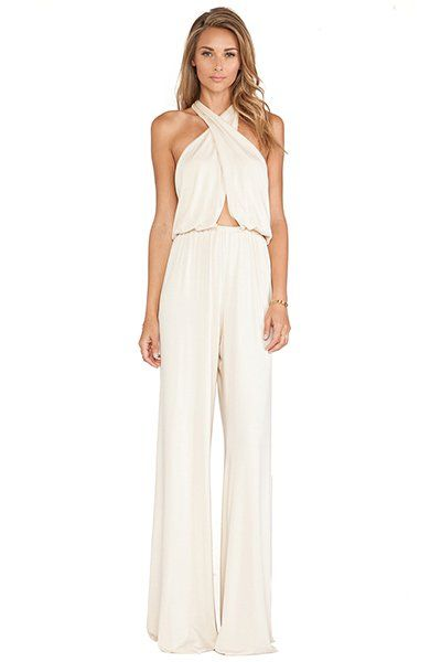 Halter jumpsuit by Rachel Pally featuring a cut-out.