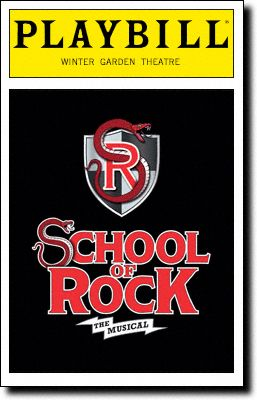 School of Rock: The Musical at the Winter Garden Theatre. Opening night, December 2015.