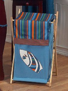 Amazon.com: Baby/Kids Clothes Laundry Hamper for Sweet Jojo Designs for Tropical Hawaiian Surf Bedding: Baby