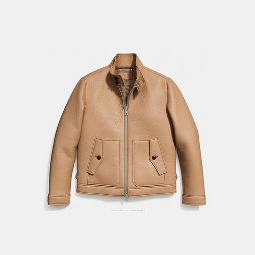 Coach USA Store & COACH COLLECTION leather barracuda jacket SADDLE
