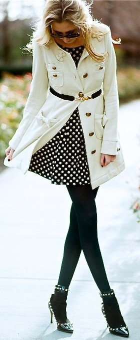 In Love with this white coat...
