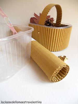 cestini di plastica rivestiti
