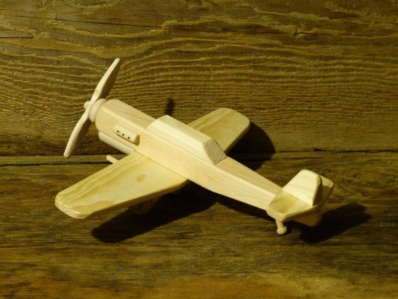 Handmade Wood Toy Fighter Plane P-40 World War 2 by OutOnALimbADK