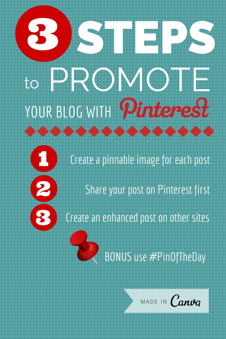 3 Steps to Promote Your Blog on Pinterest and Facebook http://www.socialmediaexaminer.com/promote-your-blog-pinterest-facebook/