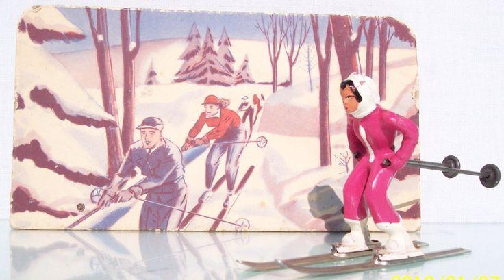 Barclay Lead B191 Girl on Skis Store Display EX | eBay