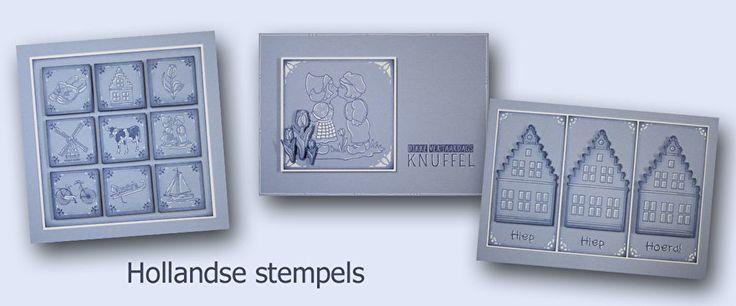 De afbeeldingen zijn gestempeld met Hollandse stempels.Ik gebruikte blauwe stempelinkt om mee te stempelen en om de randjes wat blauwer te maken.De witte accenten tekende ik met witte gelpen.De stempels met de Delfts blauwe tegeltjes zijn ook erg leuk.Na het stempelen en tekenen van de accenten, sneed ik ze uit en plakte ze met foamtape op de kaarten.Op mijn blog staan nog een paar voorbeelden.Succes!Marjolein