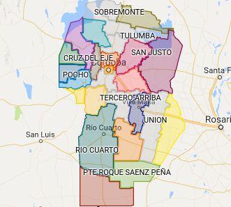 Departamentos de la Provincia de Córdoba
