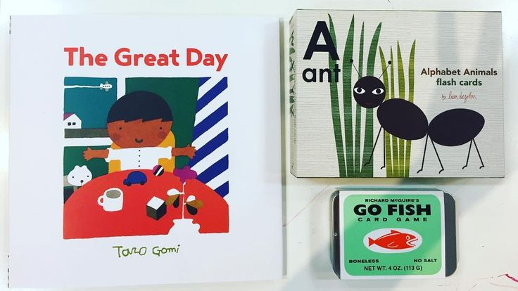 New stuff! Books, flash cards and card games. Richard Mcguire's Go Fish illustrations are super quirky, check them out online! 🐡🐜👦🏽 #richardmcquire #newyorkermagazine #tarogomi
