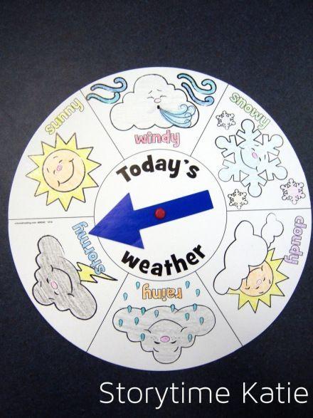 preschool weather chart | weather chart and books to read | Preschool Weather/Seasons
