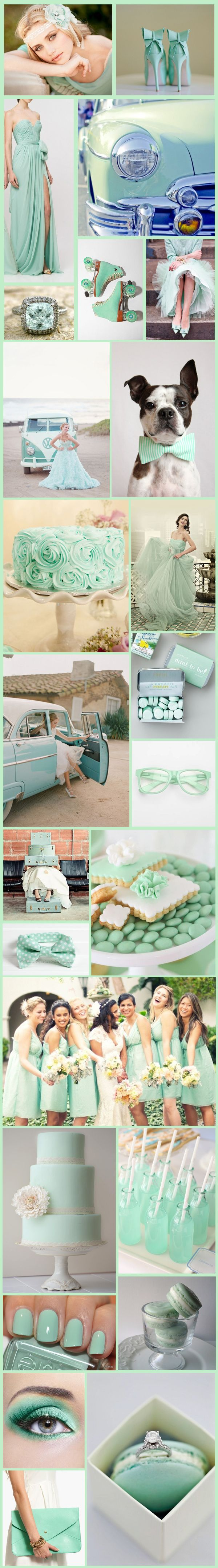 Mint weddings. I love it. <3