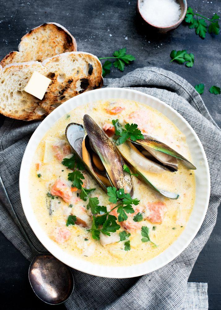 Best 25 best seafood chowder recipe ideas on pinterest for Best fish chowder recipe