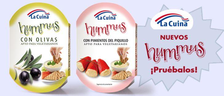 Acabamos de lanzar los nuevos HUMMUS, con olivas y de pimientos del piquillo. ¡¡Pruebalos!! Saber comer y sabor tradicional con La Cuina
