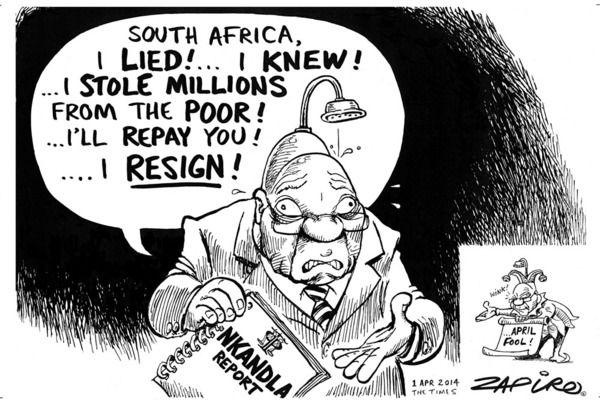 Zapiro: Jacob Zuma and the Nkandla report @myanc_