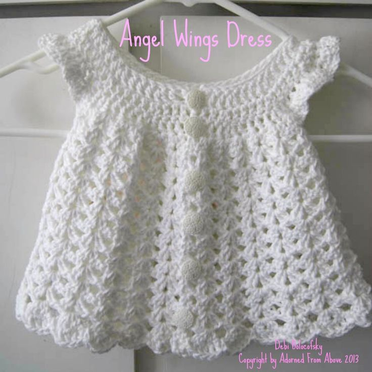 Free Crochet Baby Dress Patterns crocheted dress newborn 2 skeins ...