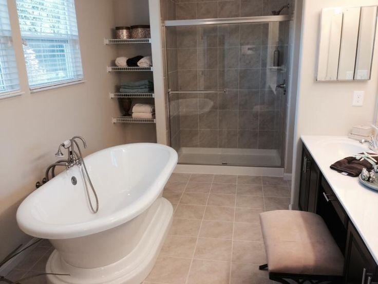 Master Bathroom   Walk In Shower   Soaker Tub   Vanity   Neutral Color