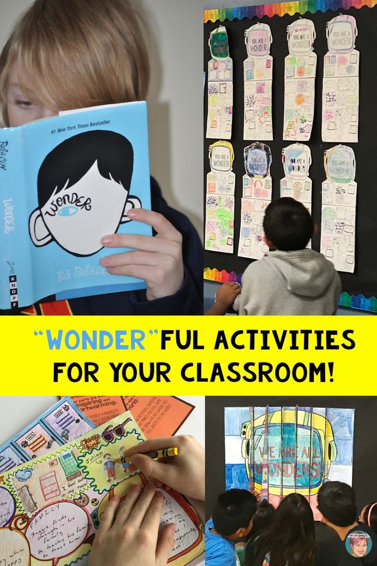 """Wonder activities for the classroom that are """"wonder"""" ful! + FREE poster/bulletin board activity!"""
