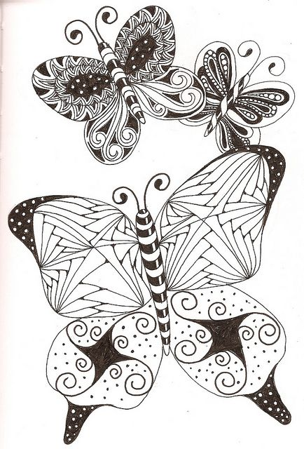 Colouring Pages Of Flowers And Butterflies : 881 best doodles adult coloring pages images on pinterest