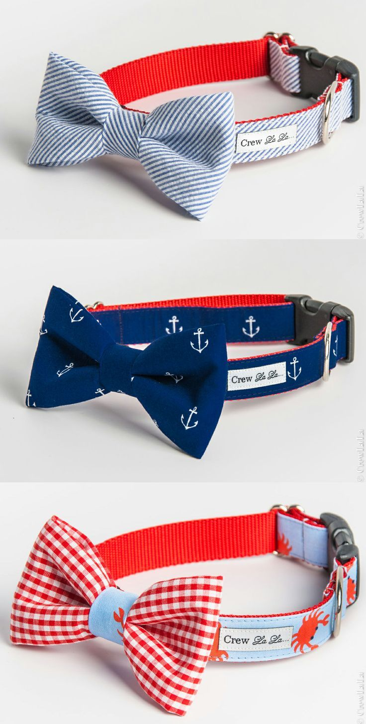 nautical dog collars. Ok that's it. Lily would look so cute with this collars.