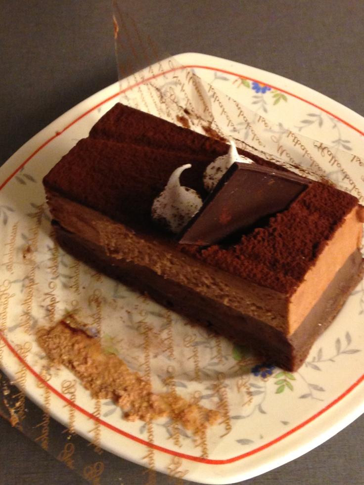 Heerlijk chocolade gebakje!