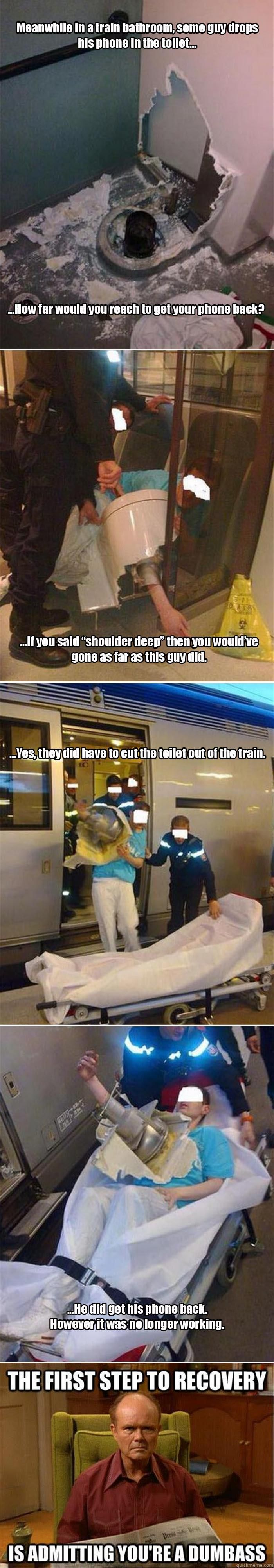 You Wont Believe What This Guy Did After Dropping His Phone In The Toilet  5 Pics