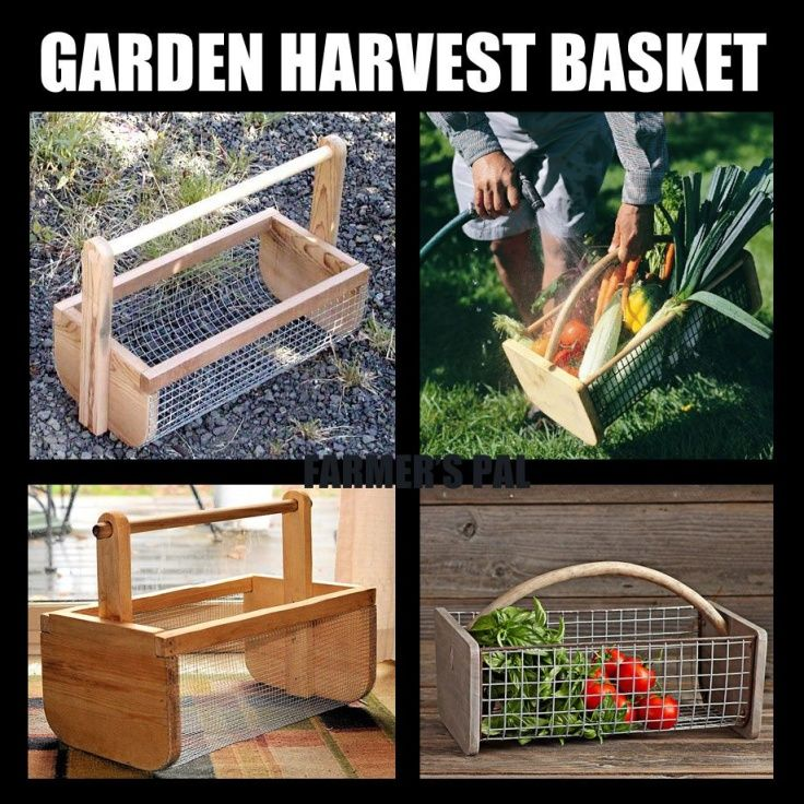 The Garden Harvest Basket: lets you pick your crop, and allows dirt and water to fall through.