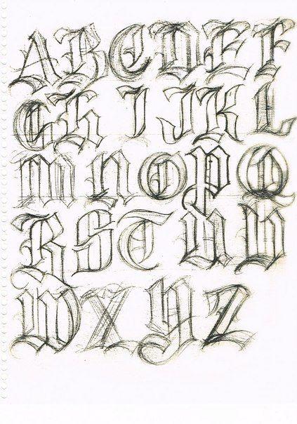 Best 25 letras para tatuajes ideas on pinterest letras - Letras para dibujar ...