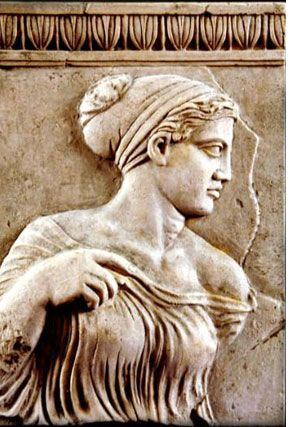 APHRODITE was the great Olympian goddess of beauty, love, pleasure and and procreation. She was depicted as a beautiful woman usually accompanied by the winged godling Eros (Love). Her attributes included a dove, apple, scallop shell and mirror.