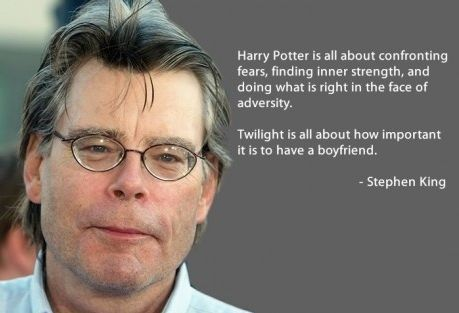 Twilight and Harry potter: Inner Strength, Funny Pictures, King Win, Twilight Books, Stephen King Quotes, Things, Harry Potter Twilight, True Stories, Steven King
