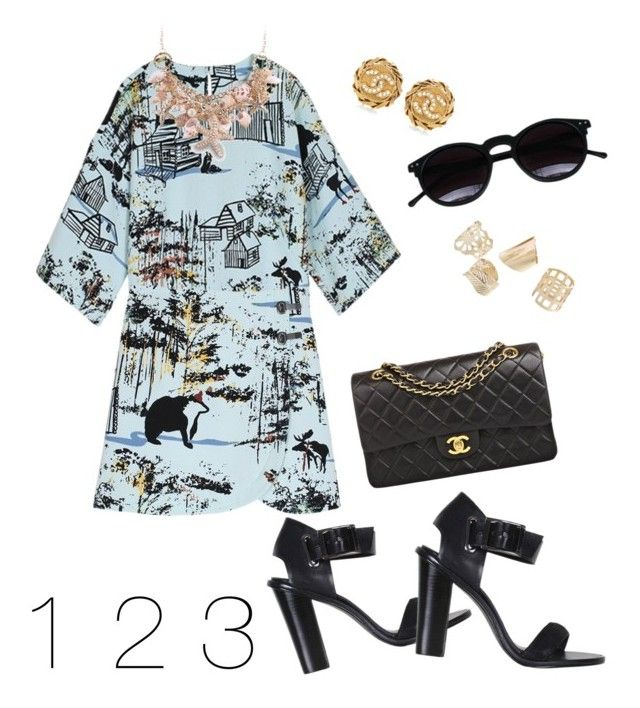 Daytime Madness by creaturesoftweed on Polyvore featuring polyvore fashion style TIBI Chanel Chicnova Fashion clothing