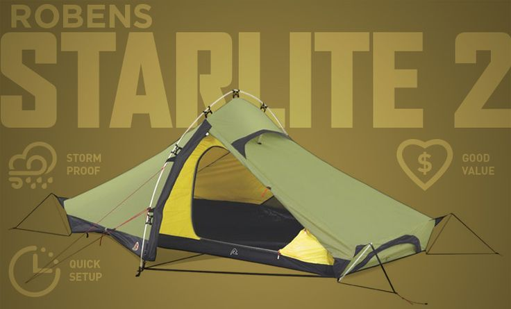 Robens Starlite 2 - an excellent value backpacking tent that will weather the storm. For more options check out our best backpacking tents article.